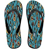 d4c1f7fdf Tailing Flip Flops Different Violin Unisex Trendy Print Slippers Beach  Sandal