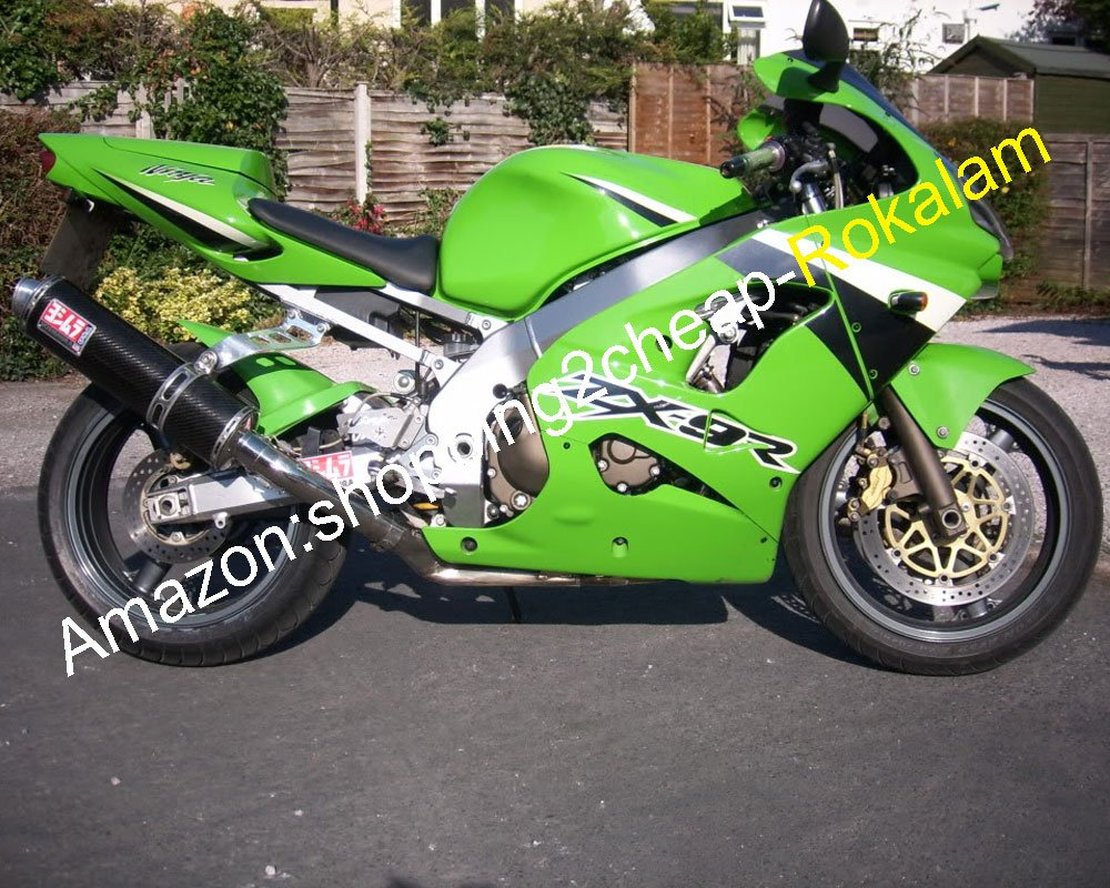 Amazon.com: ABS Plastic Fairings Custom Green For Kawasaki ...