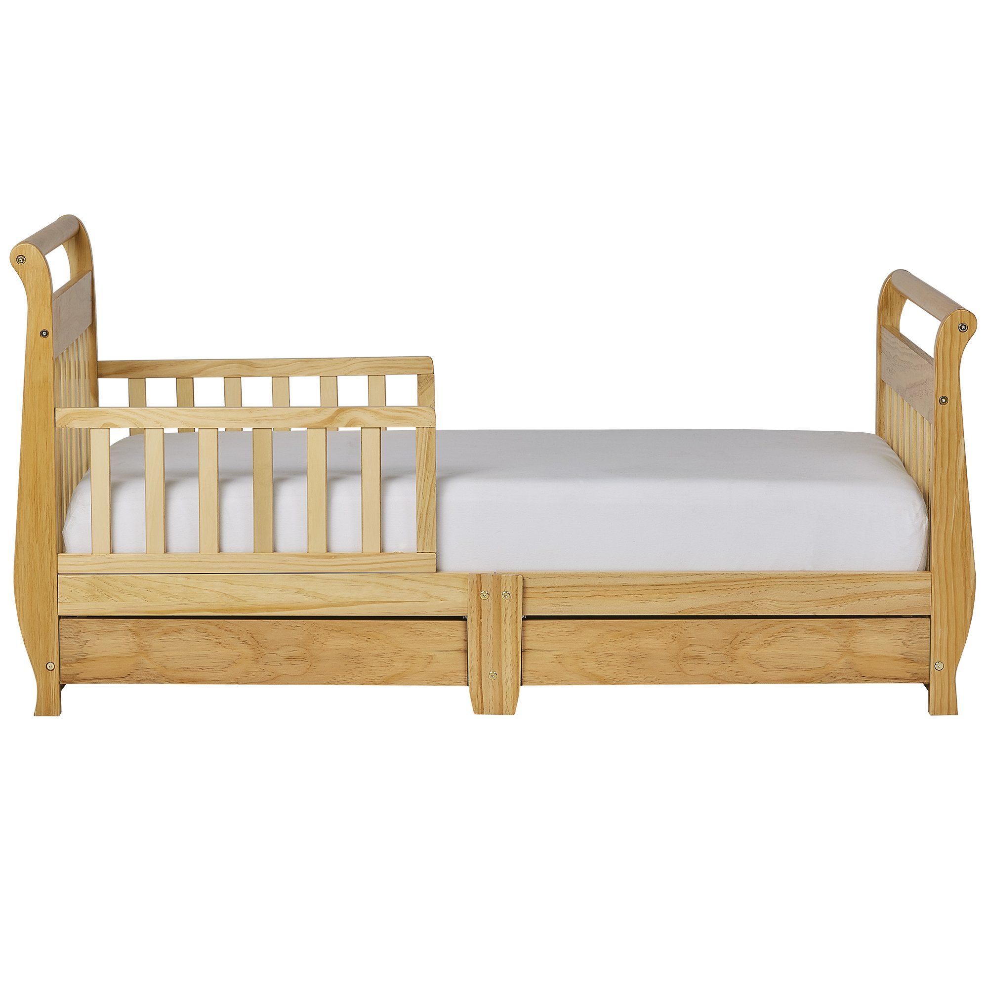 Dream On Me Toddler Bed with Storage Drawer - Natural by Dream On Me