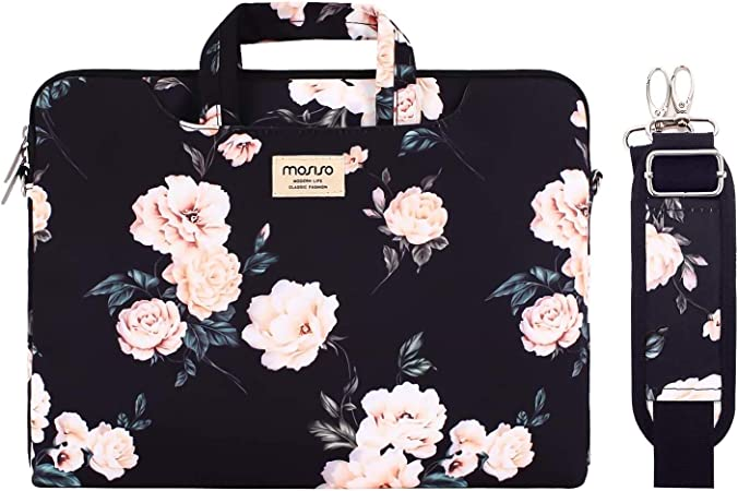 Canvas Carrying Briefcase Sleeve Case Quatrefoil MO-QAF001 15-15.6 inch Notebook MOSISO Laptop Shoulder Bag Compatible with MacBook Pro 16 inch A2141//Pro Retina A1398