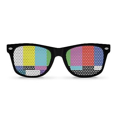 Amazon.com: Sin Negro de la señal retro anteojos de sol de ...