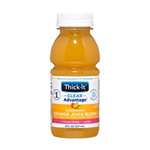 Thick-It Clear Advantage Thickened Orange Juice Blend - Mildly Thick/Nectar, 8 oz Bottle (Pack of 24)