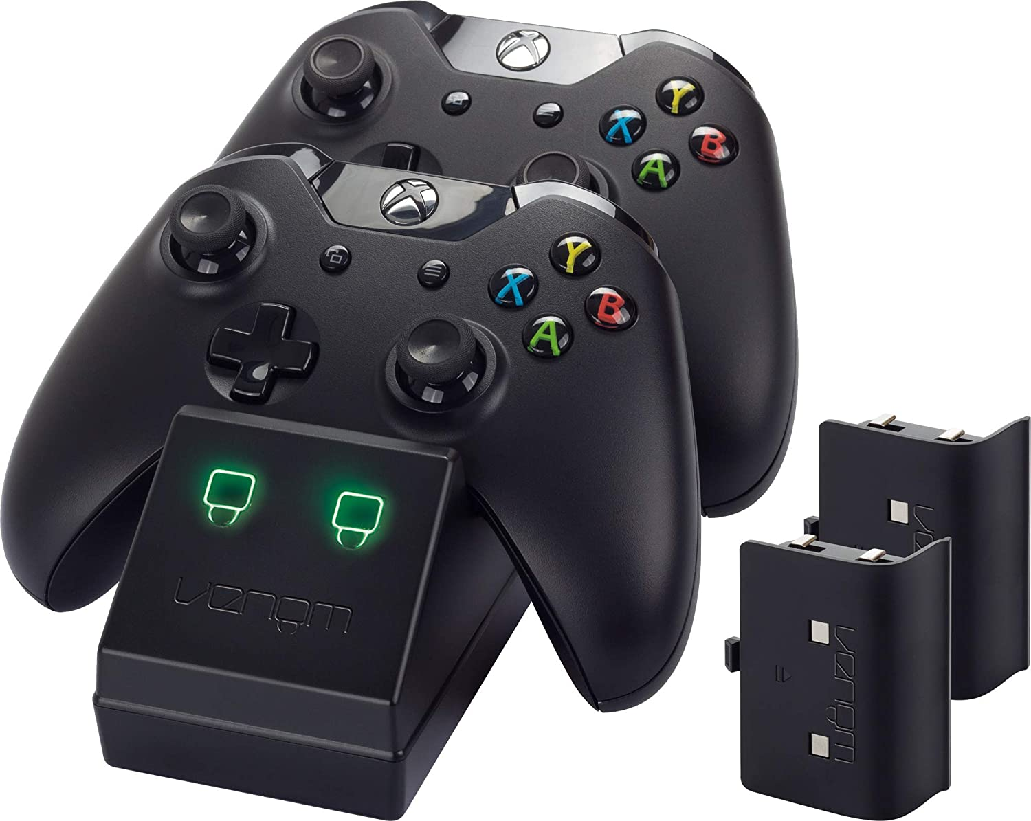 Docking  Station Venom - Twin  y pack de baterías con Cubiertas para Xbox One