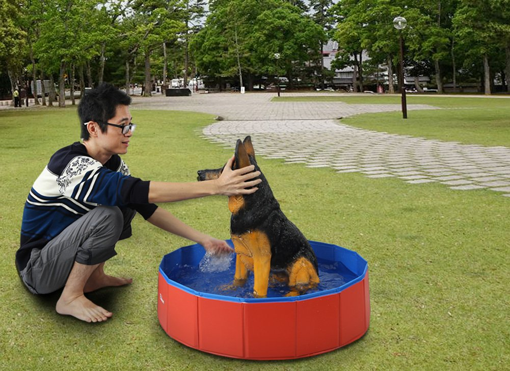 Fuloon Foldable Dog Paddling Pool Puppy Cats Swimming Bathing Tub Pet Children Kid Ball Water Ponds by Fuloon (Image #4)
