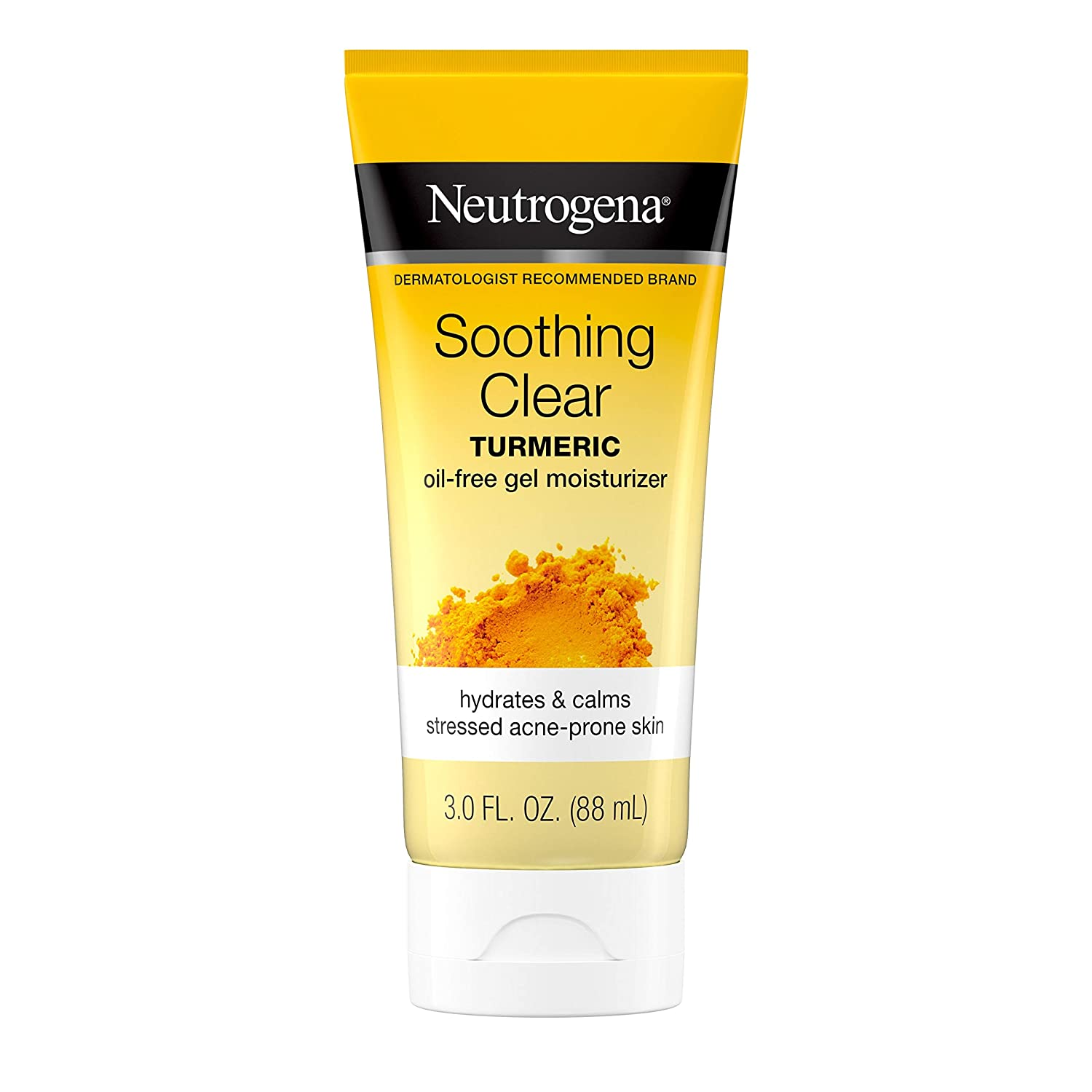 Neutrogena Soothing Clear Gel Facial Moisturizer with Calming Turmeric, Hydrating Oil-Free Face Cream for Acne Prone Skin, Paraben-Free, Not Tested on Animals, 3 fl. Oz