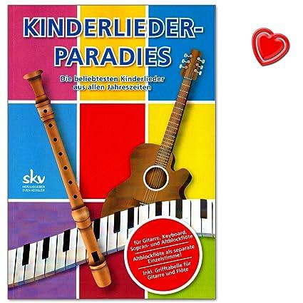 Niños paraíso de canciones para guitarra, Keyboard, Flauta con ...