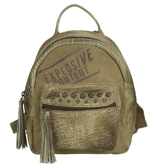 34f45570651 Sunsa Damen Rucksack Backpack kleine Schultertasche Umhängetasche Ranzen  Daypack Vintagetasche in Vintage Retro Design Damentasche Frauentasche
