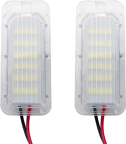 MASO 6000 K 18 SMD LED luz de matrícula para Fiesta Focus Mondeo blanco (Pack de 2): Amazon.es: Coche y moto