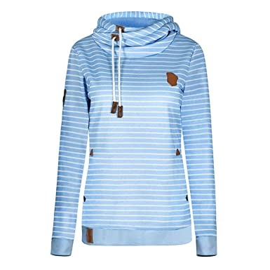 White Island Fleece Womens Hoodies Warm Long Sleeve Stripe Girls Pullovers Hoody Sweatshirt Sudadera Mujer at Amazon Womens Clothing store: