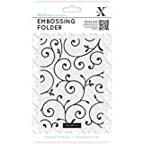 Xcut A6 Embossing Folder Delicate Flourishes, Black