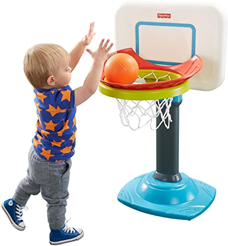 Fisher-Price Grow-to-Pro Junior Basketball - Basketball Set for 2 Year Old with 4 height positions
