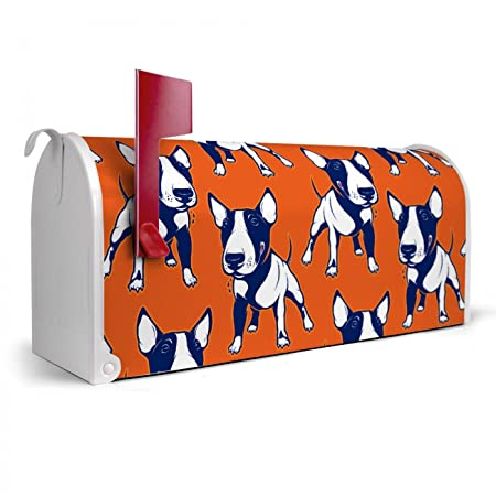 Banjado white pattern bulldog american mailbox 17 x 22 x 20 post box banjado white pattern bulldog american mailbox 17 x 22 x 20 post box letter box mail spiritdancerdesigns Images