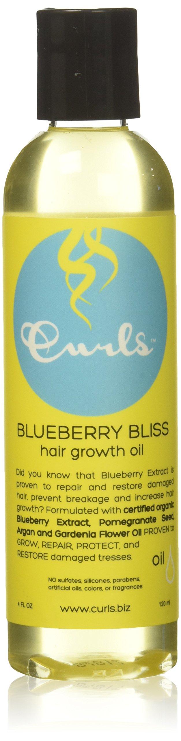 Curls Bliss Hair Growth Oil, Blueberry, 4 oz.