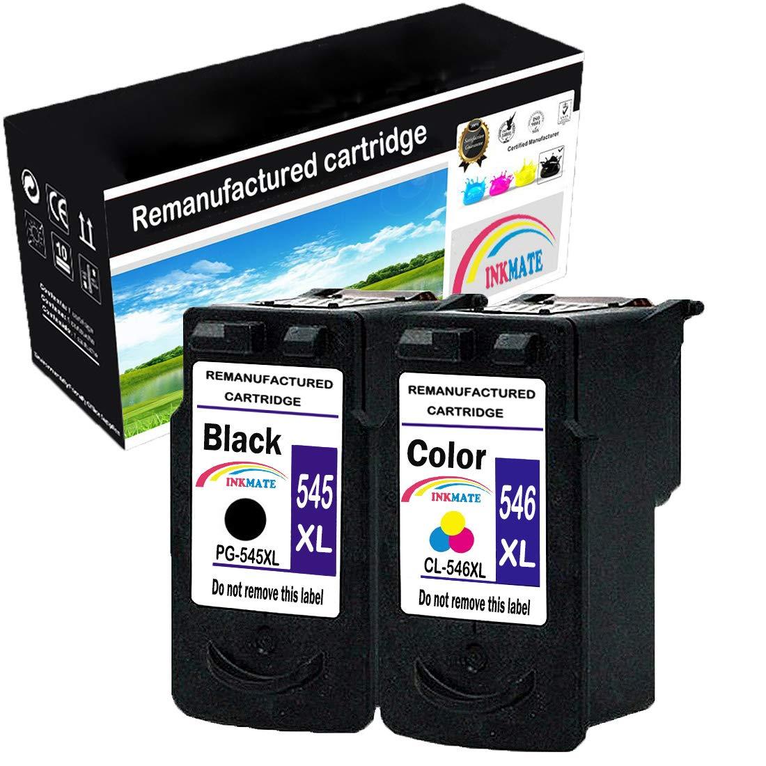 INKMAKE 2PK 545 546 Repuesto para Canon PG-545XL CL-546XL ...