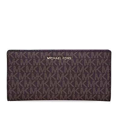a2d689a75265 MICHAEL Michael Kors Jet Set Logo Slim Wallet (Brown/Sfpk/Fawn ...