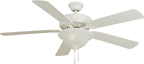 Maxim 89905MW Ceiling Fan with Light