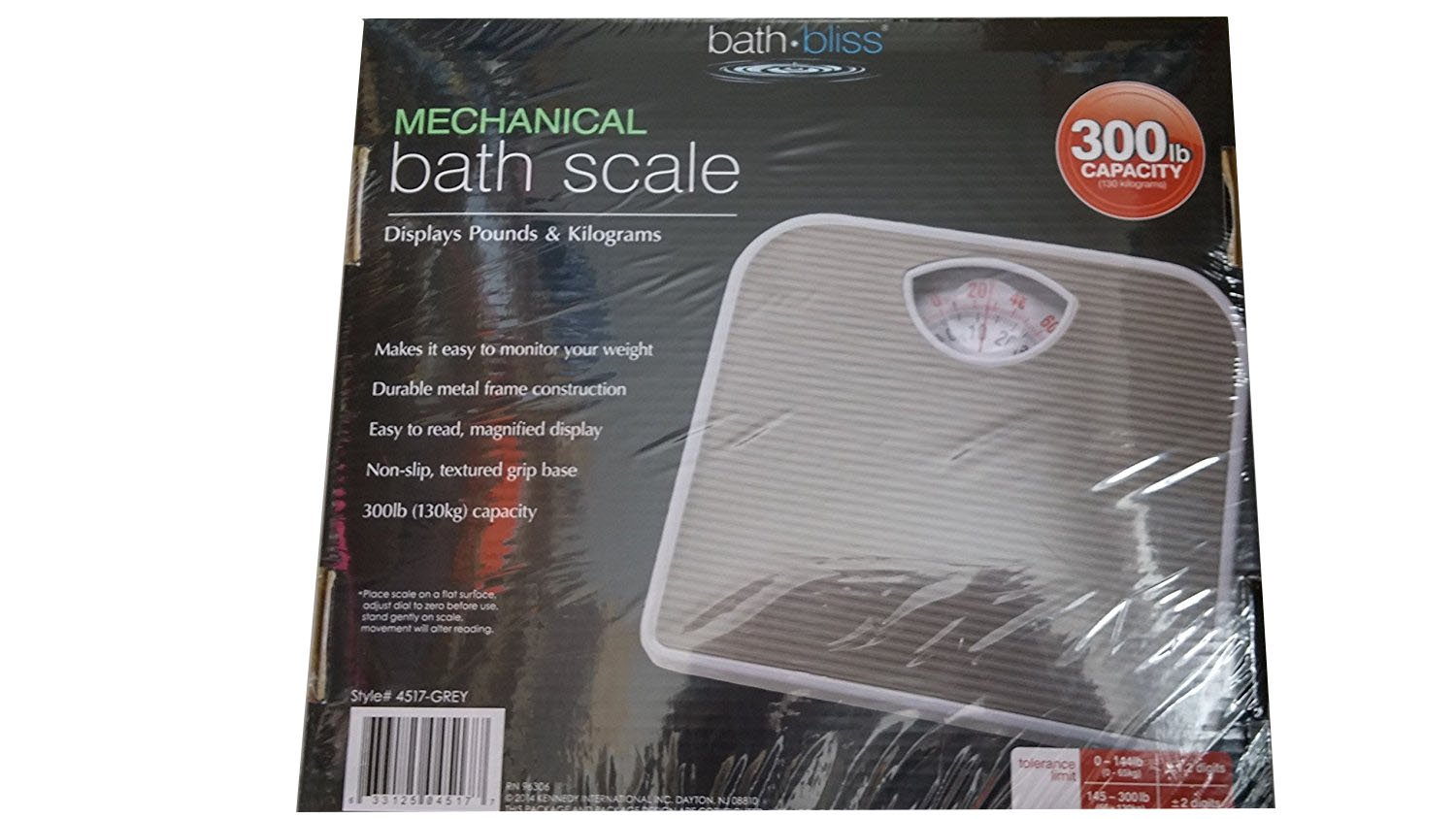 Bath Bliss Mechanical Bath Scale (Grey)