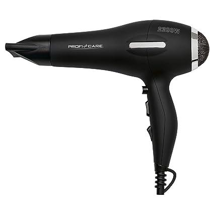 ProfiCare HT 3017 - Secador de pelo iónico con motor profesional AC, 3 niveles de