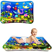 Sunshine Tummy Time Baby Water Mat Infant Water Mat for 3-9 Months Boys Girls Promotes Visual Stimulation (Mermaid)