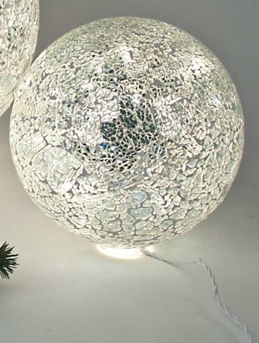 FORMANO Standfuss Model Eisen Mosaikkugel ca 20 cm f/ür Kugellampe