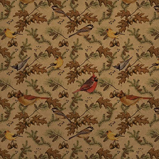 Fall Leaves Autumn Premium Kraft Gift Wrap Wrapping Paper Roll