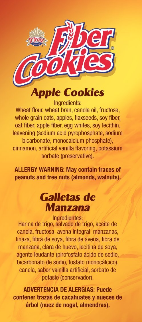 Apple Flavored Fiber Cookies