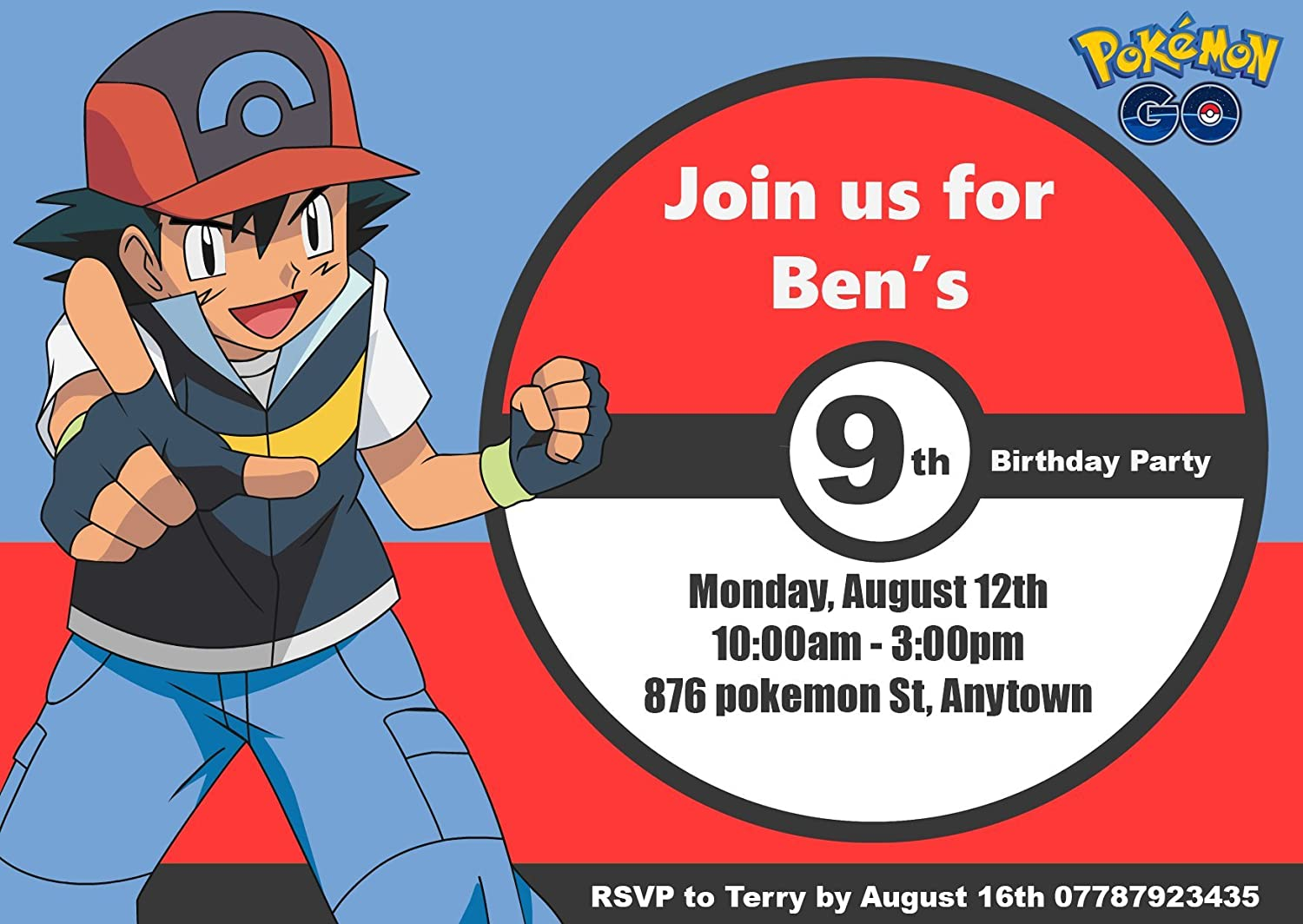 personalised pokemon go party invitations: Amazon.co.uk: Toys & Games