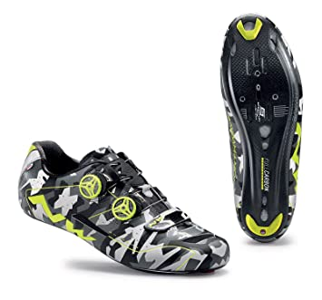 Amazon.com: Northwave Man road cycling shoes EXTREME reflective camouflage/fluo yellow: Sports & Outdoors