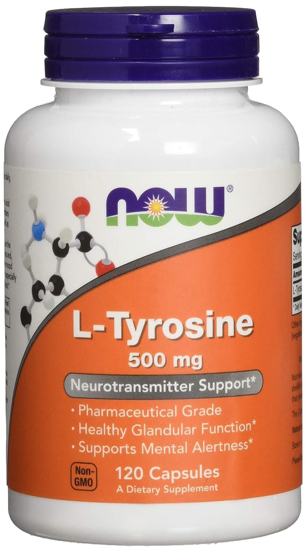 Amazon.com: Now Foods L-Tirosina 0.1763 oz, 120 ...
