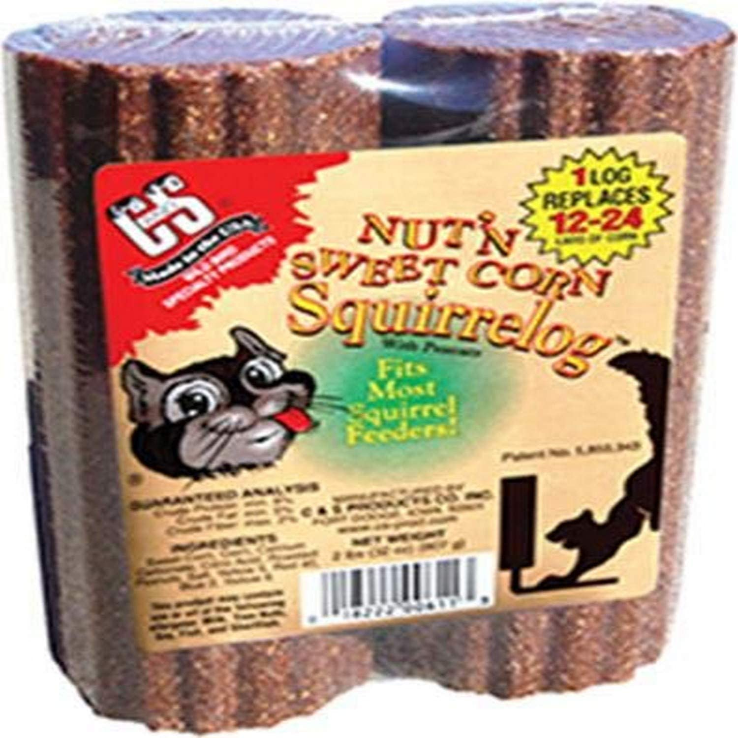 Cands Products CS611 32-Ounce Nut-FeetN Sweet Corn Squirrelog Refill