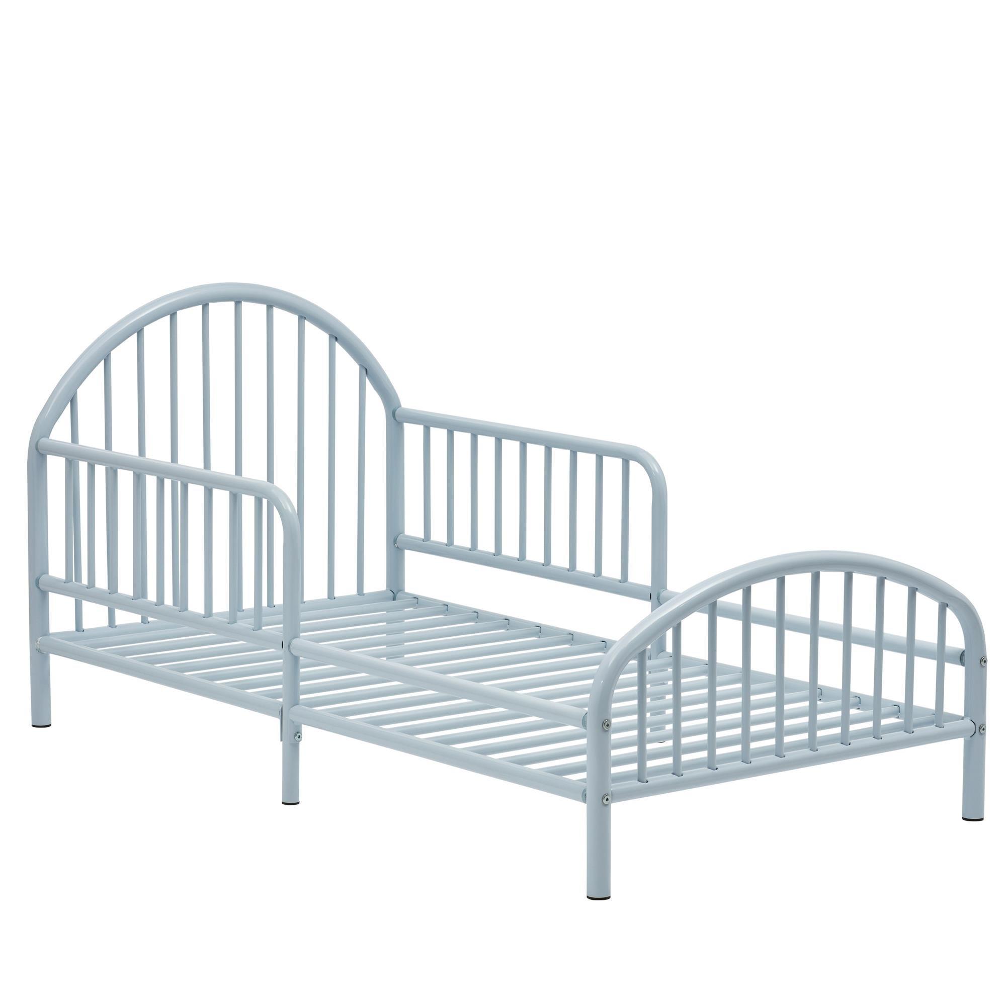 Novogratz Prism Metal Toddler Bed, Blue