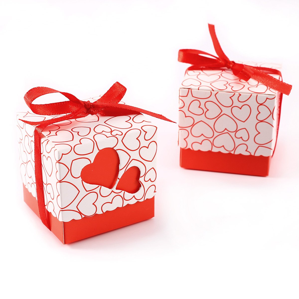 Pack of 100 Heart Favour Boxes! Wedding Sweet Bags Various Colors ...