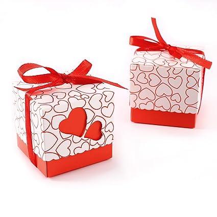 CLE DE TOUS - Set de 100 Cajas para dulces bombones Cajitas de boda regalo Caja