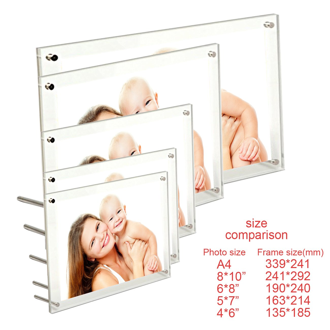 File Certificate Photo Frame Acrylic Photo Frame A4 Brackets Or Hanging Picture Frames