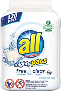 Product of all Mighty Pacs Free & Clear Laundry Detergent (120 ct.) - Laundry Detergents [Bulk Savings]