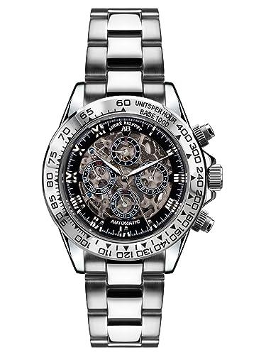 André Belfort 410164 - Reloj para hombres, correa de acero inoxidable color plateado: André Belfort: Amazon.es: Relojes