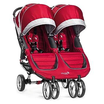Amazon Com Baby Jogger City Mini Double Stroller Crimson Gray