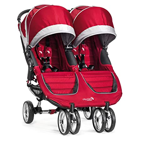 Baby Jogger City Mini Double Stroller, Crimson Gray