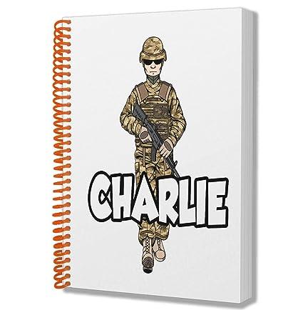 Bloc de notas A5 personalizable con diseño de soldado ...