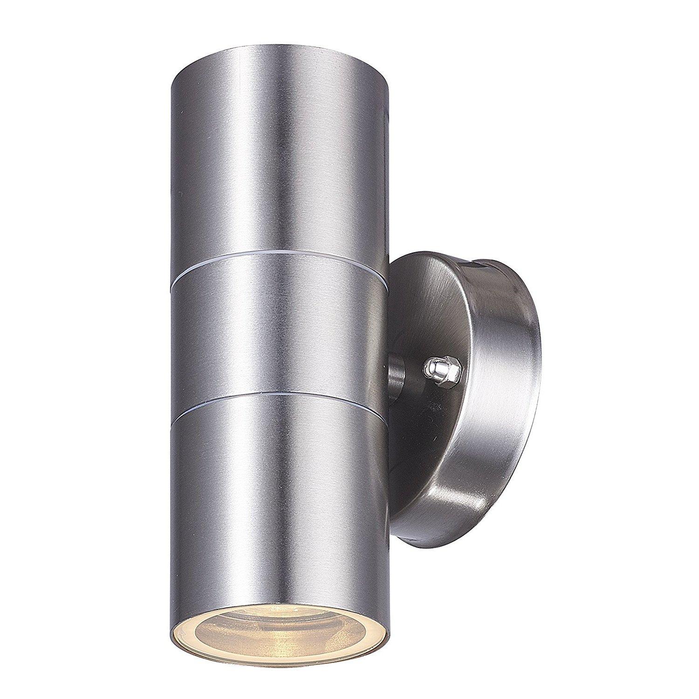 LED Edelstahl Wandlampe Up & Down Wasserdichte Licht - Dekorative Wandleuchte Gartenlicht IP44 - Garten, Eingangsleuchte, Veranda, Terrasse, Korridor LightHub SSUD