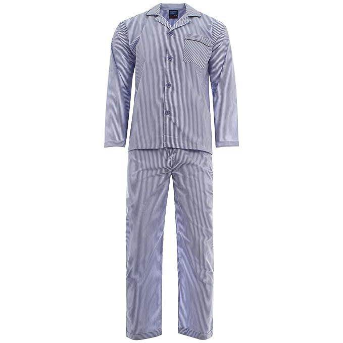 Pijama Harvey James, de polialgodón teñido, fácil cuidado