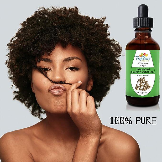 Amazon.com: Negro aceite de ricino 4 oz, Premium 100% Pure ...