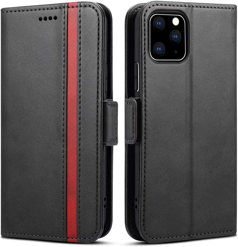 Funda Para iPhone 11 Pro, Billetera De Cuero Protectora,