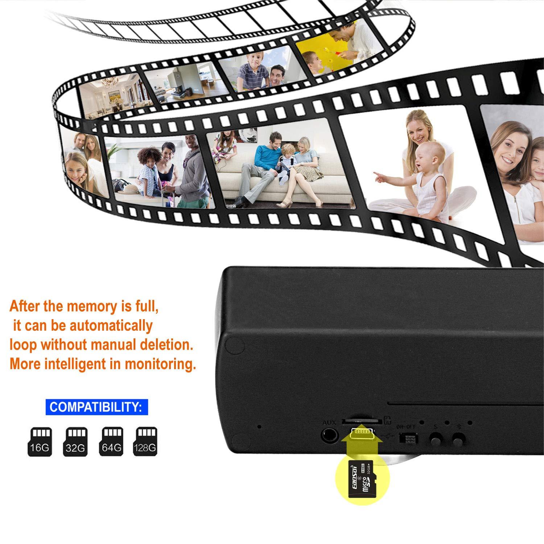 Hidden Camera WiFi HD 1080P Spy Surveillance Camera Motion Detector Night Version 24 Hours Real-time Monitoring Black