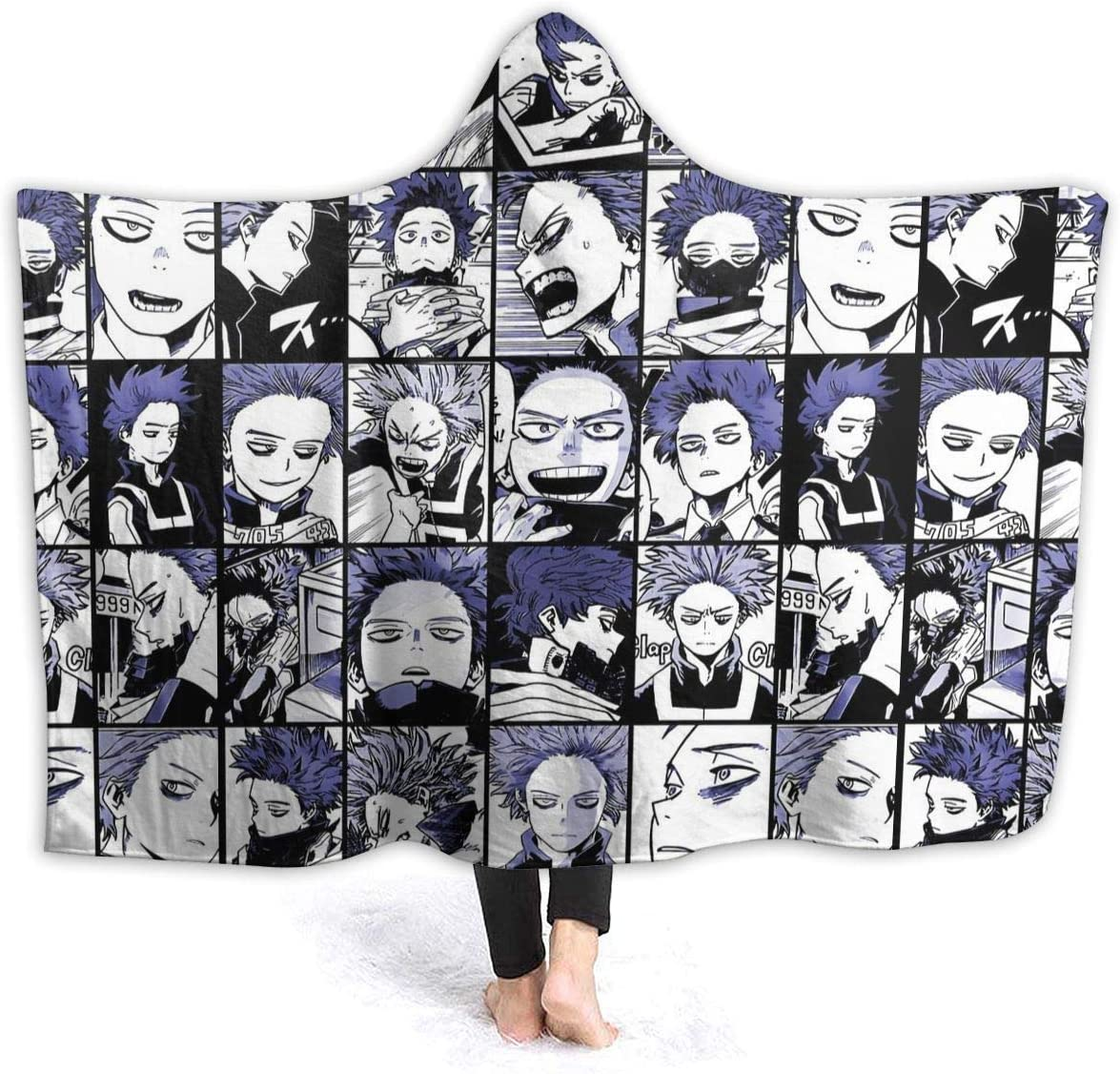 Magicuas Midoriya Izuku Deku Comics Collage Hooded Blanket Sherpa Throw Lightweight Couch Air Conditioning Soogan Warm Aircraft Towelling Coverlet for All Seasons 80X60 for Unisex Adults//Queen