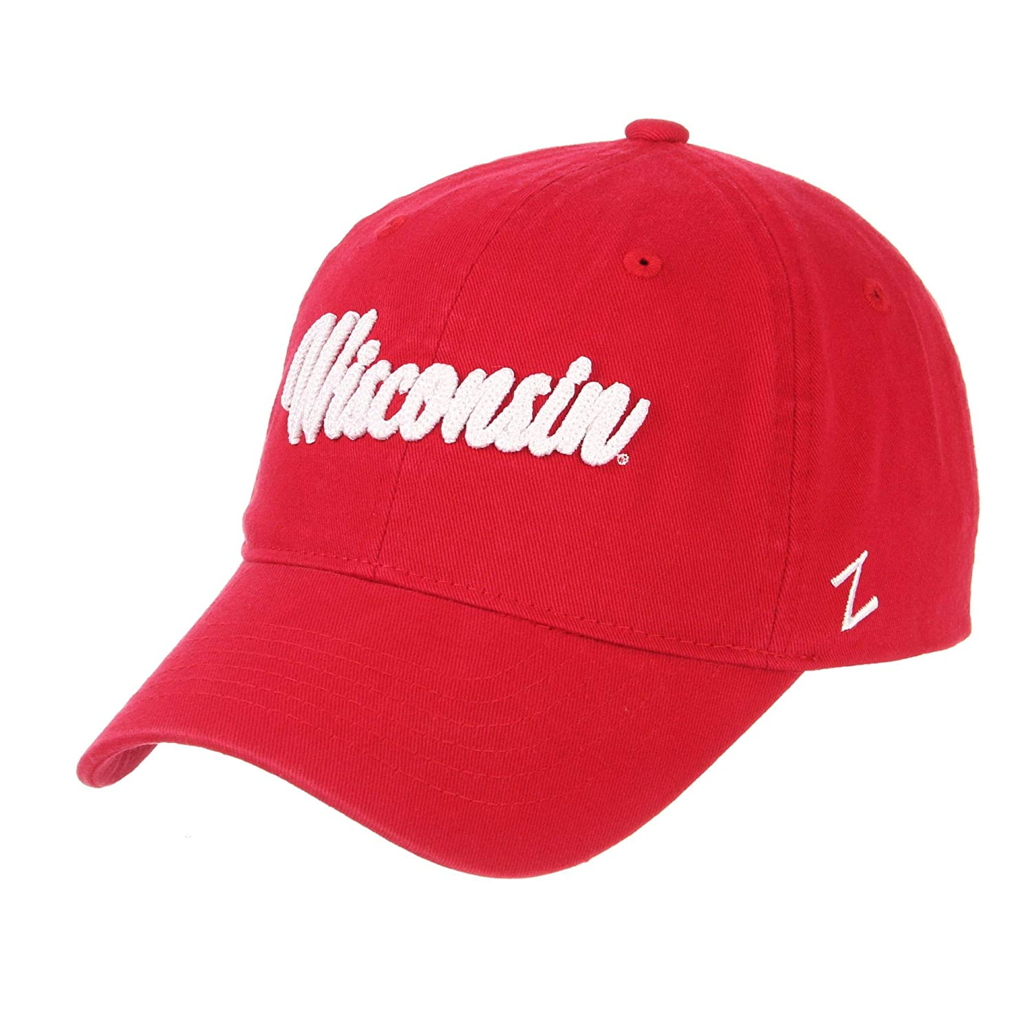 Wisconsin Badgers Official NCAA Scroll Adjustable Hat Cap by Zephyr 671689