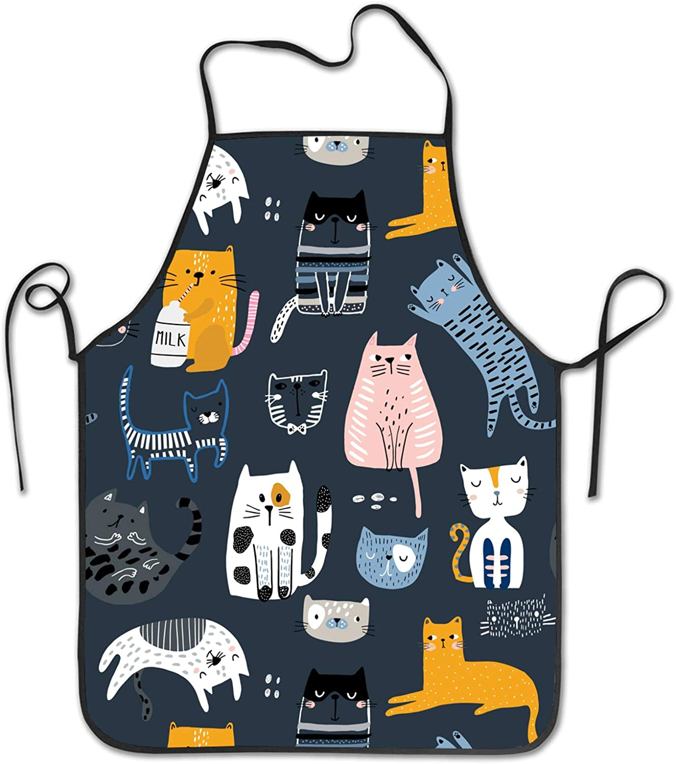 Cartoon Flying Pig with Wings Kitchen Apron home chef Bib with for Cooking Gardening Adult Size Unisex Pink Blue