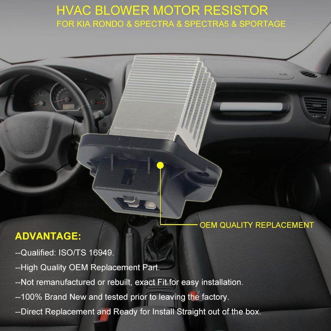 Amazon.com: FAERSI HVAC Fan Blower Motor Resistor for 2007 Kia Rondo  Spectra Spectra5 2005-2009 Kia Sportage Replace OE# 971791F200 97179-1F210  4P1466 ...