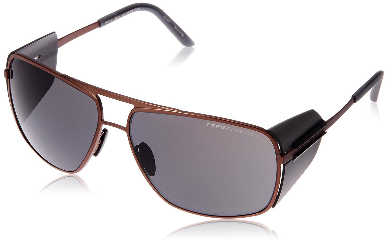 [ポルシェデザイン]PORSCHE DESIGN メガネ メンズ B01N0RK7EX 日本 64 (FREE サイズ) ブラウン ブラウン 日本 64 (FREE サイズ)