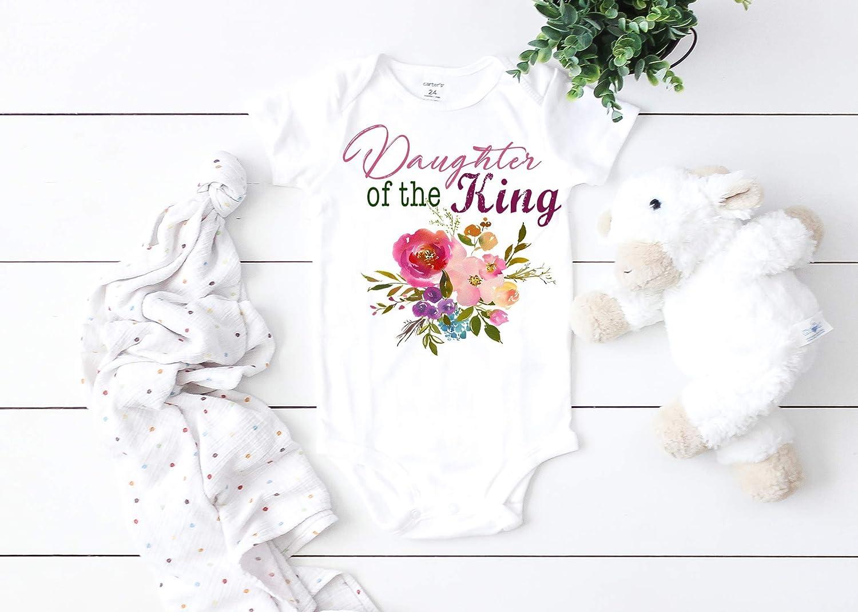 Daughter Of The King, Baby Bodysuit, Baby Onesie, Faith Onesie, Christian Baby, BoHo Baby, Flower Baby, Floral Onesie, Baby Girl, Religious Baby, Spiritual Baby